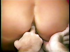 Brunette gets her pink pussy stuffed with a fat dick