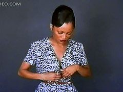 Sensual Ebony Movie Star Theresa Randle Shows Her Big Round Knockers