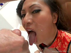 Exotic Asian Babe Gianna Lynn Gets Facialized and Creampied In a 3some