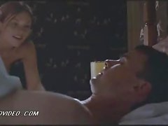 Horny Blonde Babe Amy Locane Takes Off Her Bra and Gets Banged