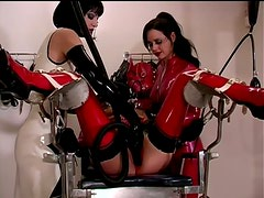 Cruel Dominatrices Torture a Lesbian Sex Slave In Hot Latex Outfits
