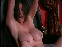 Busty Dominatrix Tortures and Humiliates Her Bound Lesbian Sex Slaves