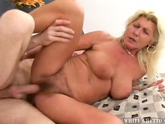 Blonde Granny Loves Fucking Younger Randy Guys