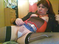 Redhead Tranny being a slut for you