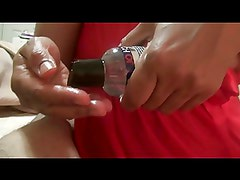 Indian wife gives oily handjob with a happy ending