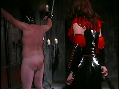 Mistress Aradia Wraps Up Her Sex Slave and Then Tortures His Balls
