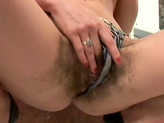 Extremely Hairy Mature Gets Her Ass Fucked and Her Pussy Creampied