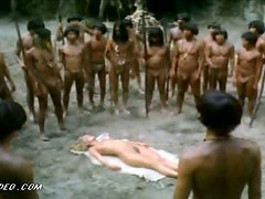 Naked Blonde Monica Zanchi Captured by Cannibals
