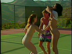 Horny Eva Flowers and Brooke Water Fuck Their Tennis Instructor
