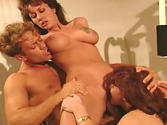 Nikki Sinn and her GF get their holes destroyed by Rocco Siffredi