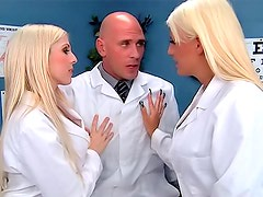 Blonde doctors star in slutty threesome