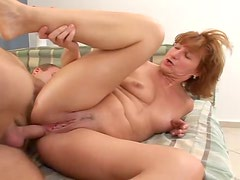 Hot Granny Gets Drilled A Big Cock After She Blows On It