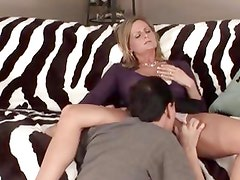 Cock hungry mother is dipped with dick