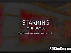 3D Danish nanny that works in USA