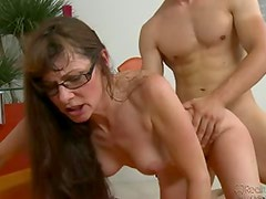 Horny Milf receives her priceless bushy pussy pounded hardcore !
