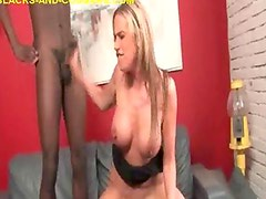 Mature Blonde with Two Blacks