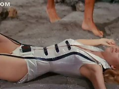 Incredibly Hot Retro Star Jane Fonda Wearing a Tight Space Suit
