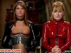 Lesbian Fetish Slaves Chained and Tormented by Dungeon Mistresses