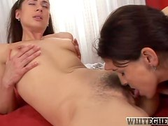 Angelina Rose and Pepper A love eating each other's pussies