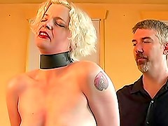 Bound blonde suffers sensual pain