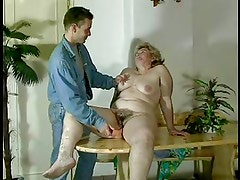 GRANNY AWARD n16 bbw hairy  mature with a young man