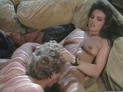 Hot brunette goes crazy all over this big hard cock