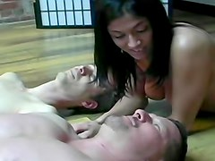Men trampled by dominant women