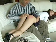 Young ass spanked to bruising