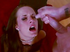 Alektra Blue gets her face drenched with warm cum