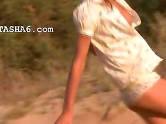 pleasing natasha teen naked on the beach