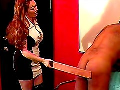 Mistress abuses his ass in so many ways