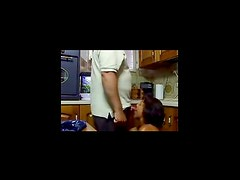 Cocksucking wife in kitchen