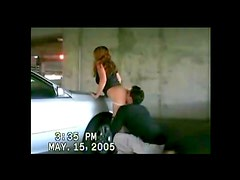 Amateur couple public garage fuck
