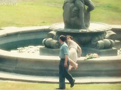 Super Hot Celeb Keira Knightley Dives Into a Fountain