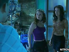 Christine Chatelain and Keegan Connor Tracy Kissing in a Hot Scene
