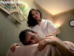Perfect Brunette Marika Dominczyk Gives Massage and Then Gets Banged