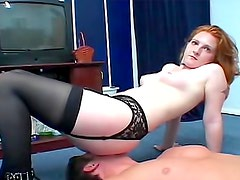 Fun smothering with redheaded cutie