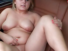 Chubby German Amateur Sandra fucking her high heels