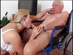 Nasty Nurse Fucks Old Guy