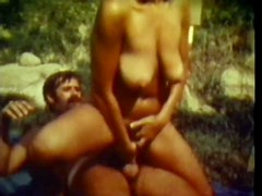Busty Retro Babes Get Fucked and Facialized on the Beach