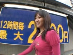 Asian Whore Natsumi Horiguchi Flashes Her Big Round Booty in Public