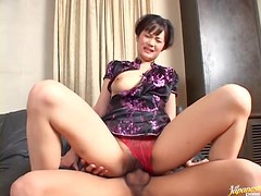 Wild Asian MILF Mako Takeda Gets Fucked By her Young Boyfriend