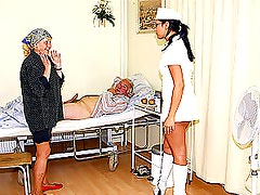 Horny Blonde Mature Gives Her Sick Husband a Blowjob In The Hospital