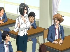 Baku Chichi Bomb 3 - Horny Animated Teacher Fucks Students