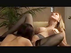 Well Matured Lesbian gives young girl a good fucking