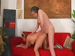 Italian daddy fucks girl