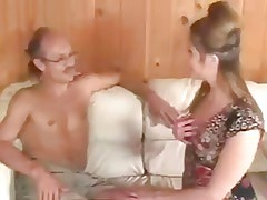 horny girl sucks old guy