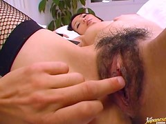 Busty Hina Gets Fucked and Facialized Wearing Stockings