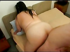 FAT BBW Lady sucking and fucking her younger Lover