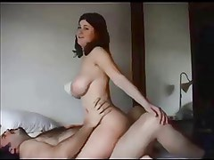 Amateur college babe creampied by old guy